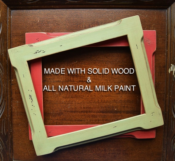 24x30 picture frame distressed solid wood by