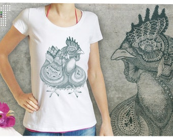 hen- T-shirt women S-XL - 01
