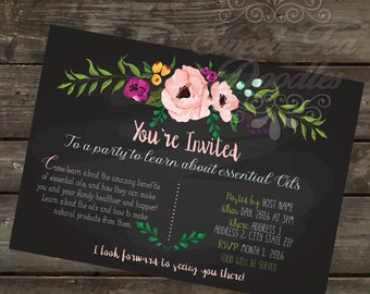 Essential Oils Party Invite