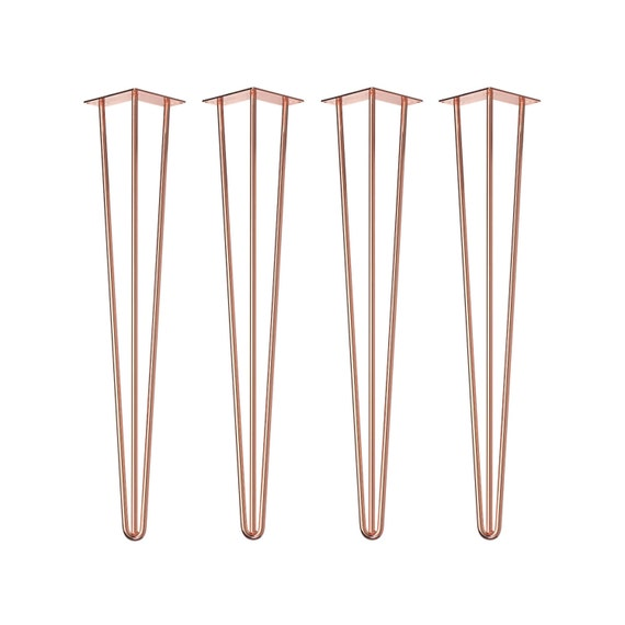 4 x COPPER CHROMED Hairpin Legs - All Sizes