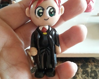 Harry Potter polymer clay, Ron weasley character, Ron from Harry potterclay sculpture, Ron polymer clay.