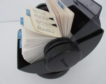 Large Rolodex Business Card Holder Address Book with Cards & A-Z Dividers