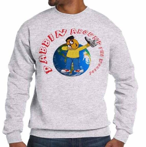 sale retailer 5682c c038a dabbin migos cam newton jordan retro 4 white cement young thug fleece  sweatshirt swe.