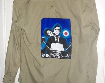 female Mod shirt Quadrophenia the who handmade to order long sleeve short sleeve no sleeve