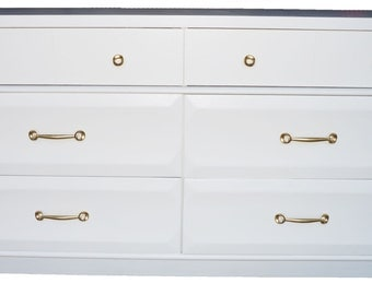 Mid Century White Dresser by Ramseur Furniture Co.