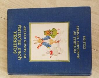 "Vintage ""Squirrel Goes Skating"" Alison Uttley 1947 Canada"
