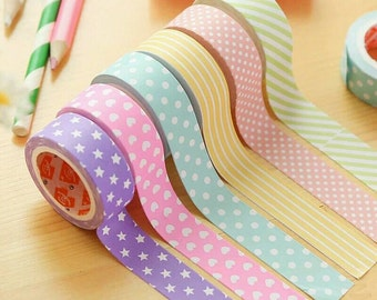 Set of 3 Washi Paper Tapes - Choose from Set 1 or Set 2