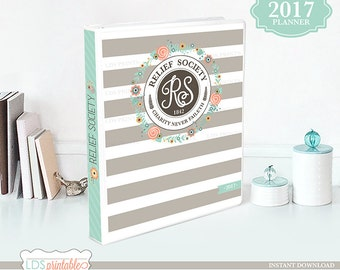 RSFB17A - 2017 LDS Relief Society Binder Cover and planner set