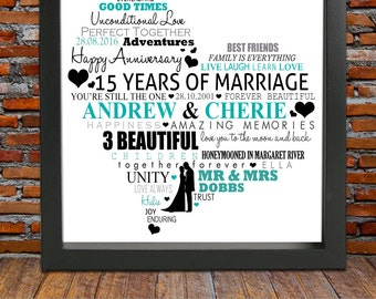 personalized 15th wedding anniversary 15 years anniversary gift 15th wedding anniversary gift 15th anniversary gift gifts