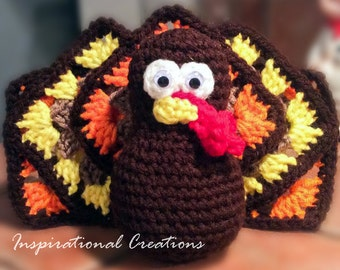 Crochet Thanksgiving Turkey, Thanksgiving Turkey, Handmade Thanksgiving Turkey, Amigurumi Thanksgiving Turkey