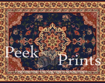 8ft.x6ft. Oriental Rug Floor Drop Vinyl Photography Backdrop