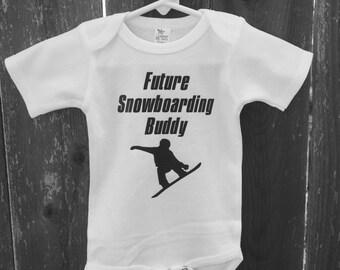 Future Snowboarding Buddy baby bodysuit.