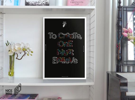 Art Print Inspirational Quotes Design Poster Digital Wall