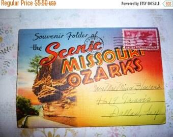 on sale 1950 Souvenir Folder of  Scenic Missouri Ozarks