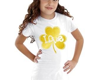 Love Inside Gold Shamrock personalized shirt