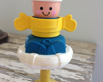 Vintage 1980s Fisher Price Baby Toy LITTLE SAILOR Table Top Multi Functional Toy