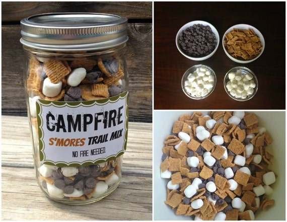 Mix in a Jar - Gifts in a jar - Chocolate in a jar - Smores in a jar ...