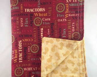 IH blanket, personalized, international harvester, farmall, baby gift, baby shower