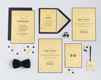 Art Deco Wedding Stationery Suite
