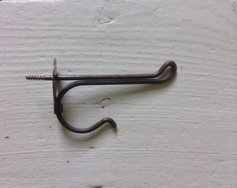Vintage Wire Hook With Circular Backplate