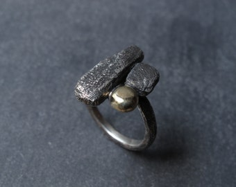 Handmade silver and gold ring.