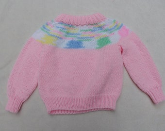 vintage girls sweater/vintage kids clothing/retro kids clothes/knitted child/