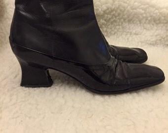 Vintage prada black patent leather shoes