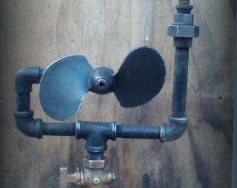 industrial steampunk lamp (propeller)