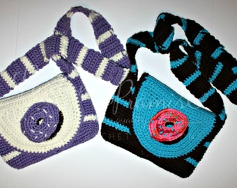 PRINTED CROCHET PATTERN: Donut Cross Body Bag, Donut Purse, Messenger Bag, Donuts, Doughnut,
