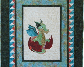 Baby Quilt // Dragon Quilt // Baby Shower Gift // Baby Dragon Quilt // Baby Quilt // Toddler Quilt // Twin Quilt // Handmade Quilt