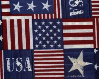Patriotic Fabric, Timeless Treasures USA C3853, Patriotic Cotton, USA Fabric, 4th of July Fabric, Stars & Stripes Fabric, Cotton
