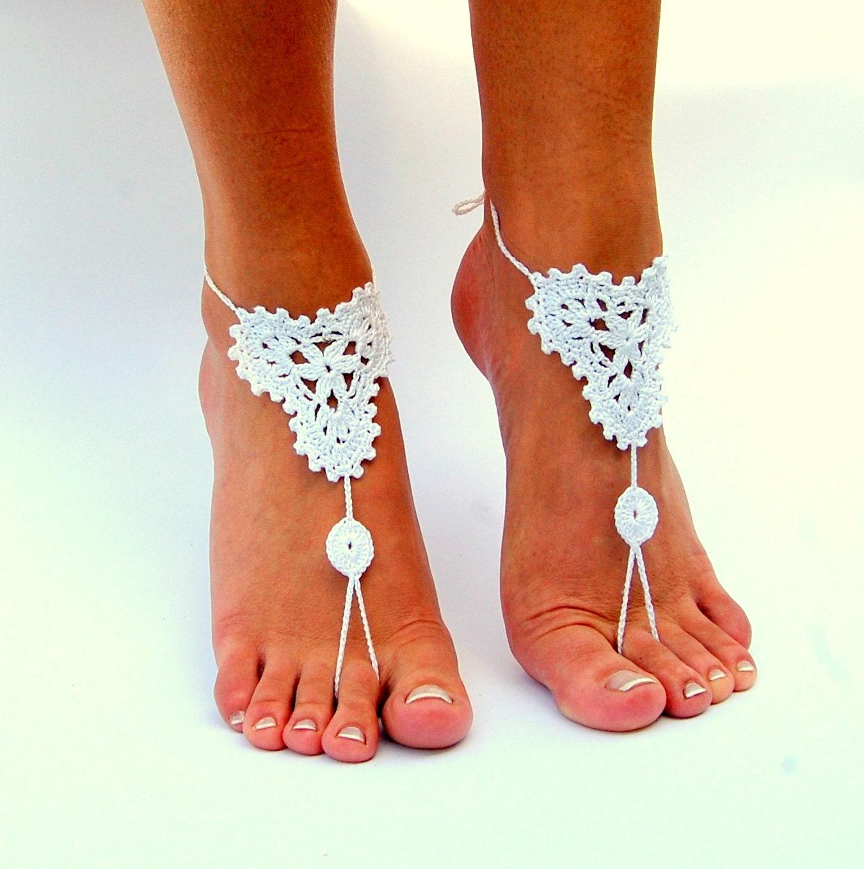 Barefoot Sandals Wedding: Barefoot Sandals Beach Wedding Shoes Wedding By Dityfashion
