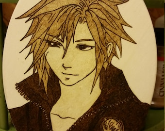 Woodburning - Cloud Strife - Final Fantasy 7