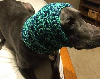 Hand made crocheted dog snood