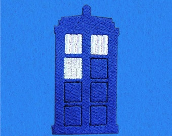 Doctor Who Inspired Tardis Mini Fill Embroidery Design