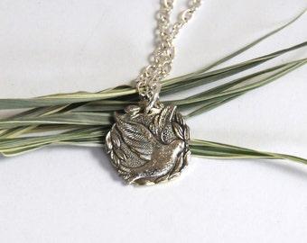 dove necklace, peace necklace,  faith jewelry