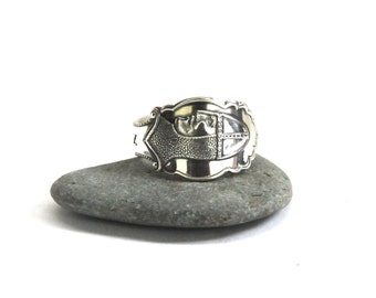 norway ring, spoon ring,  sons of norway ring, norwegian ring