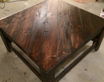 Handmade Solid Wood Coffee Table