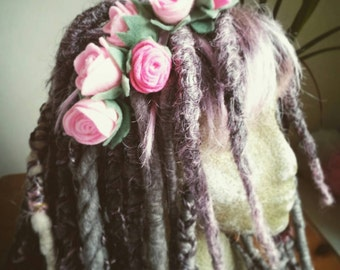 Large rose head band