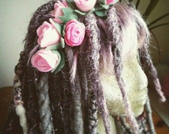 Large rose head band