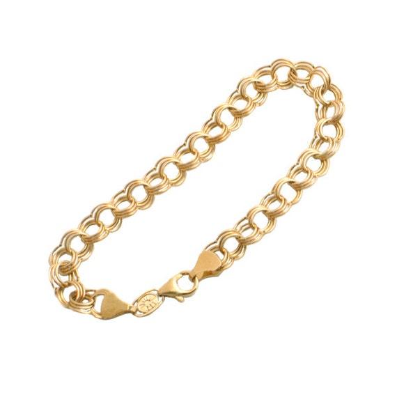 link charm bracelet in 14k gold lightweight 14k