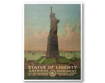 Statue Of Liberty National Monument Travel Poster