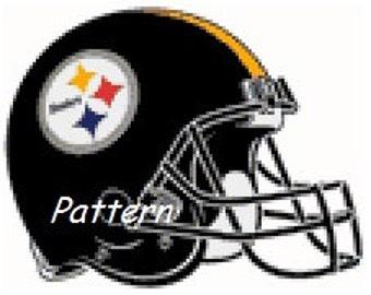 Pittsburgh Steelers Helmet #1. Cross Stitch Pattern. PDF Files.
