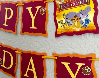 Lion Guard Birthday Banner, Lion Guard Birthday, Lion Guard Party Supplies, Lion Guard Invitations, Lion Guard Birthday Shirt, Lion King