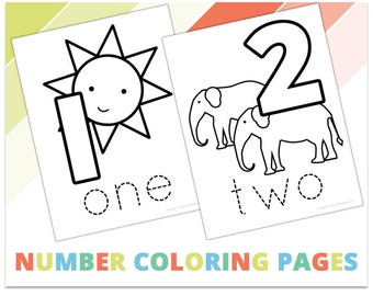 Number Coloring Pages and Coloring Book