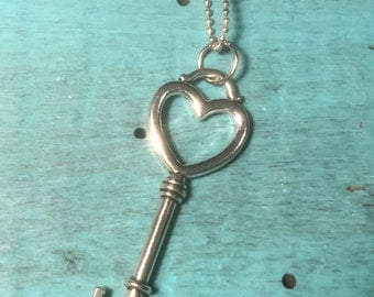 Big Heart Key Necklace