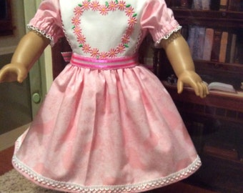 Sweet song bird spring dress and shoes for American girl dolls