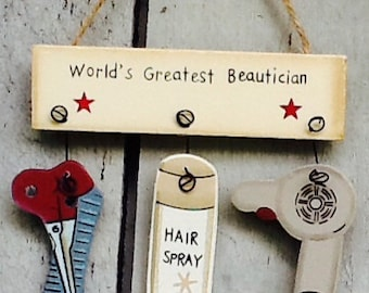 Hair stylist ornament, hair dresser ornament, salon ornament, hair stylist gift, salon gift, hair stylist gift tag, hair salon gift tag