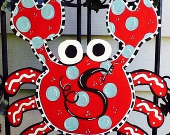 Crab door sign, crab fest sign, crab fest door sign, Maryland crab sign, summer sign, summer door sign, summer door hanger, crab door hanger