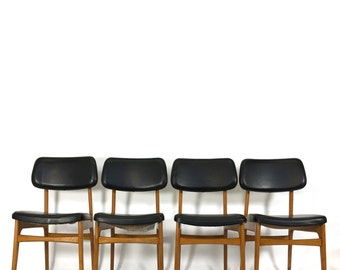 Set of four danish dining chairs from the sixties.